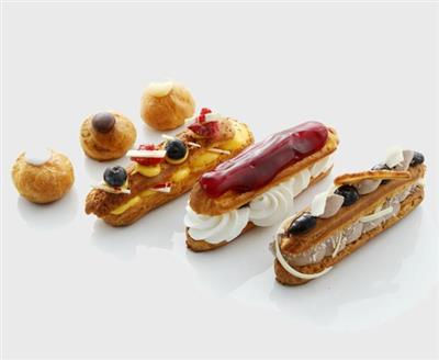 Beignets and eclairs